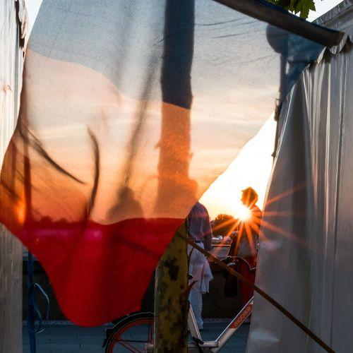 Frankreichfest Sunset Curtain Sunlight Sun Lens Flare Sunbeam Sky Close-up The Traveler - 2018 EyeEm Awards The Photojournalist - 2018 EyeEm Awards
