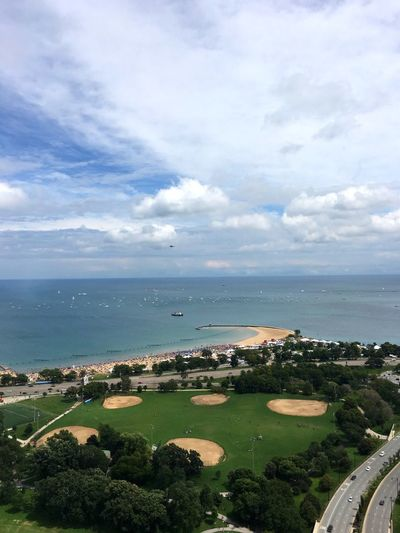 Sea Horizon Over Water High Angle View Water Tranquility Chicago Lincoln Park Fresh On Eyeem