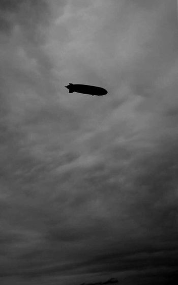 Sky Cloud - Sky Outdoors Black'n'white  Lake Constance Flying Day Zeppelin
