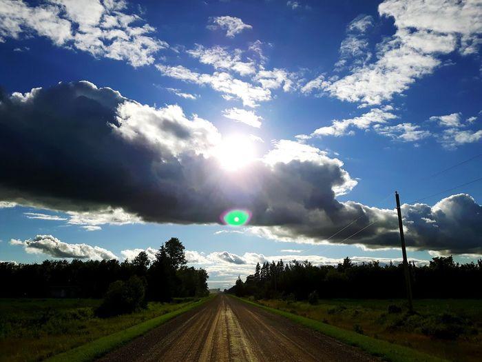 Evening, Clouds, Sun