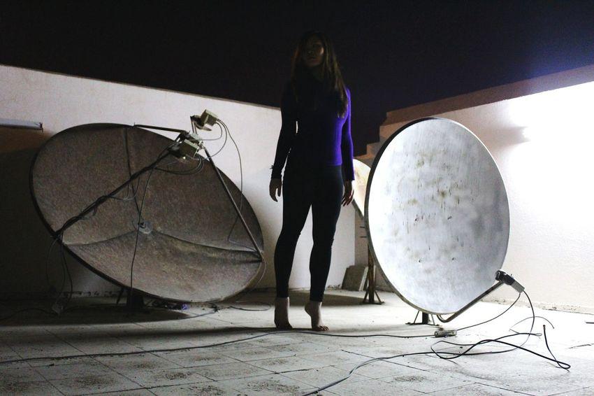 Full Length One Person Adults Only Sport People Adult Night Winter Angelphotography Photography Saudi Arabia Freespirited Freespirit Creativity Reflection Social Issues Owlofluna
