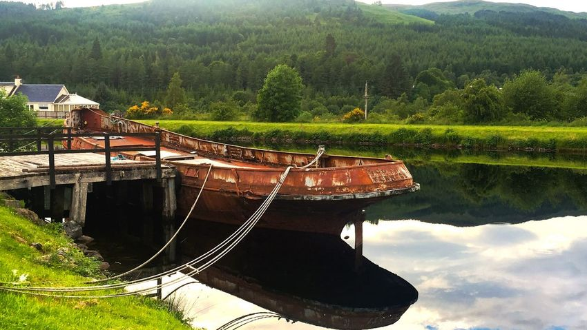 Boat Old Boat Rusty Things Rusty Boat Water Water Reflections Nature