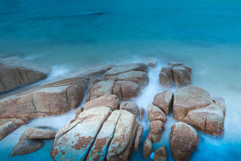 Rocks With Blue Water