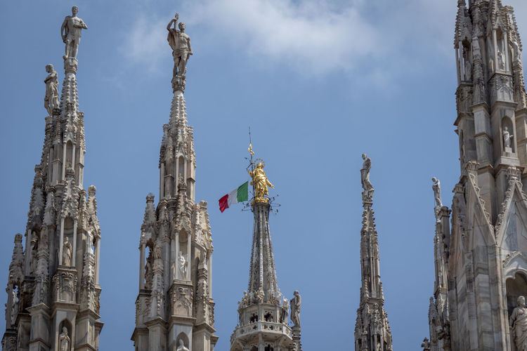 Architectural Column Architecture Art And Craft Belief Building Building Exterior Built Structure Duomo Di Milano History Low Angle View Nature No People Ornate Outdoors Religion Sculpture Sky Spire  Spirituality Statue Tall - High The Past Tourism Travel Travel Destinations
