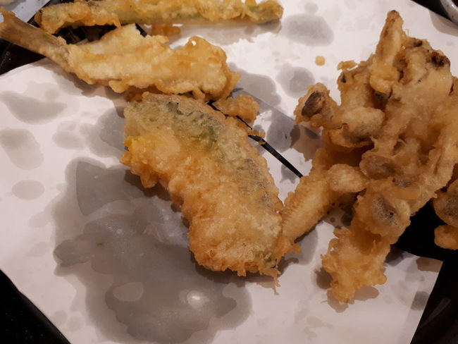 oily tempura Oily Food High Cholesterol Greasy Delicious Unhealthy Japanese Food Fish Vegetable Crispy Restaurant Sweet Food Dessert Indoors  Day