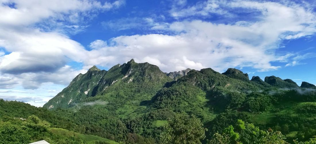 Panoramic view of mountains against sky at doi luang national park