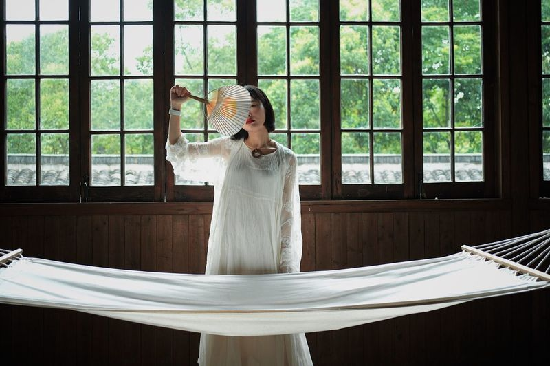 FanEmpress Indoors  Window One Person Standing Day Only Women Beautiful Woman One Woman Only Hasselblad X1d Young Women Chinese Culture Real People One Young Woman Only Beauty People Adult Adults Only Bride EyeEm Selects Breathing Space