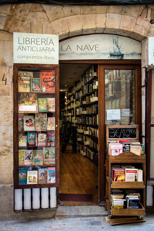 Old library and book shop in the historical old town of Salamanca, Spain. Book Collections Book Store Old Town Salamanca Spanish Book Shop Antique Shop Architecture Book Book Shop Salamanca Bookshelf Choice Day Indoors  Large Group Of Objects Library Libreria No People Old Book Shop Old Library Shelf Spanish Arquitecture Spanish Culture Stack Text Vending Machine