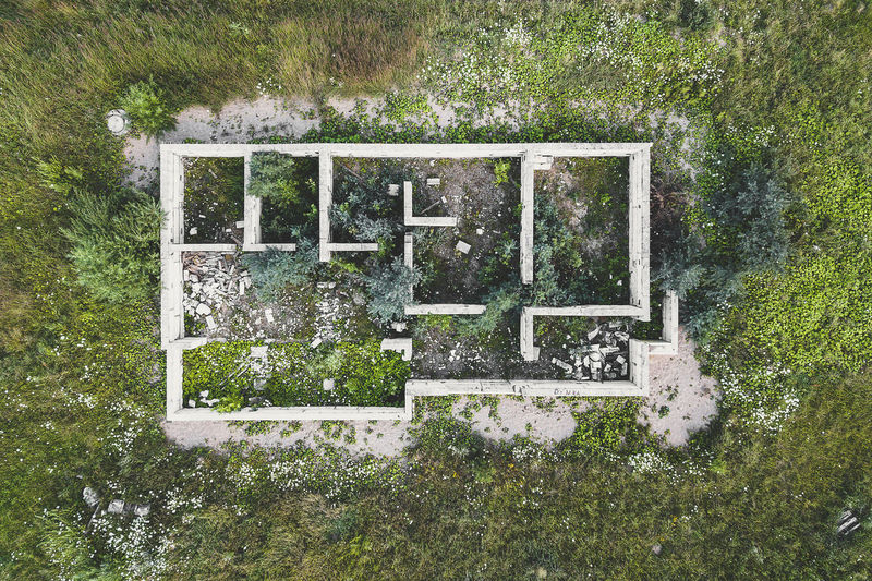 Unfinished house Aerial Shot Drone  Abandoned Buildings Architecture Day Drone Photography Foundations Grass Mavic Mavic Pro Nature No People Old Buildings Outdoors Tree Unfinished House