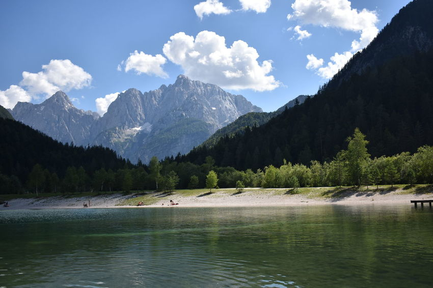 Lakes & Mountains in Lake Jasna, Slovenia Mojstrana Slovenia Beauty In Nature Cloud - Sky Day Idyllic Lake Lake Jasna Mountain Mountain Peak Mountain Range Nature Nautical Vessel No People Non-urban Scene Outdoors Plant Scenics - Nature Sky Tranquil Scene Tranquility Tree Water Waterfront