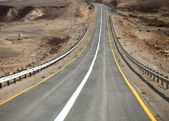 High angle view of highway