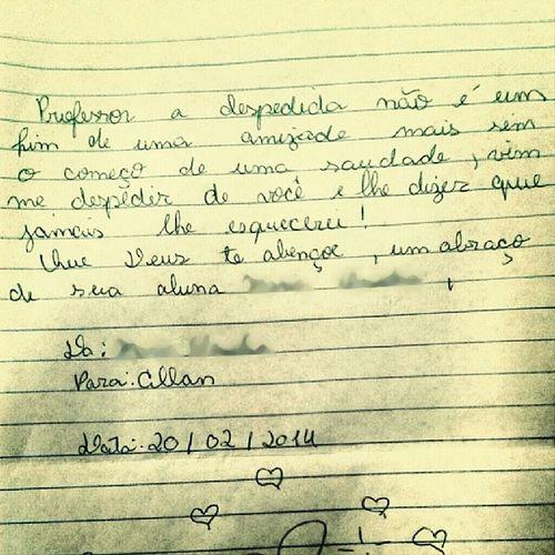 Minha pitica do sexto ano mudou de horário :/ Me Student  school Prof teacher Cry photooftheday picoftheday cute Love