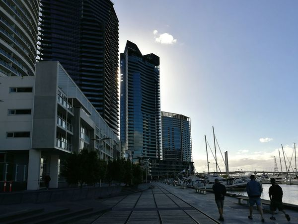 Concrete Jungle Architecture City Sunset Boats