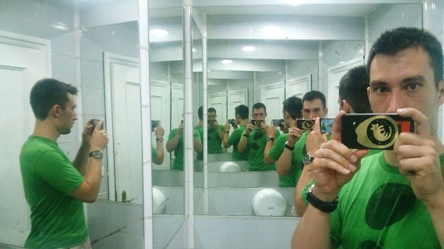 First and last Bathroom Selfie. all for: Endlessness. summer picture from bilbao last year. That's Me In The Mirror mirror mirror...