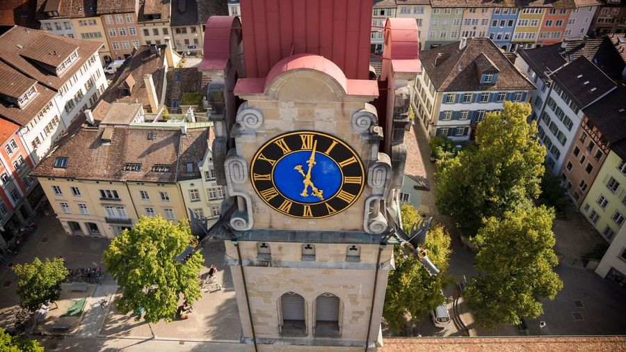 Clock tower in city