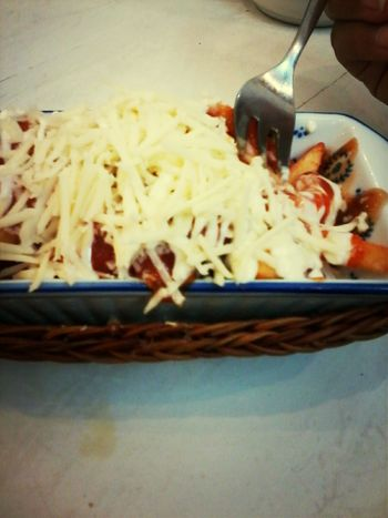 last dinner :3 Fried Fries Cheese Yummi :) @toaststory, Malang
