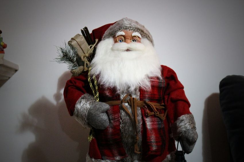 Always Be Cozy Beard Christmas Christmas Decoration Christmas Decorations Decoration Decorative Doll Exceptional Photographs EyeEm Best Shots From My Point Of View Holiday - Event Human Representation Illuminated Indoor Indoors  Inside Red Santa Santa Claus Santaclaus Shadows & Lights Tradition Traditional Costume Wall