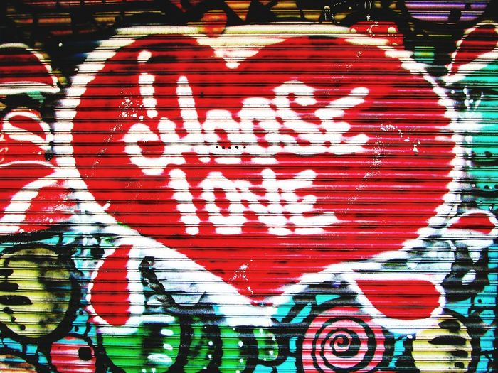 Art Love Streetphotography Urban UrbanART New York Manhattan NYC Multi Colored Red Backgrounds Full Frame Text Street Art Graffiti Art And Craft Close-up Colorful Painted ArtWork Spray Paint Paint Cool