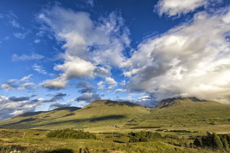 Clouds gather over Black Mount in Scotland. Black Mount Loch  Scotland Scottish Trossachs United Kingdom Bridge Of Orchy Clouds Countryside Highlands Lake Landscape Lanscape Loch Tulla Mount Mountain Nature No People Outdoors Scenics Scottish Highlands Sky Sunset Tulla Uk