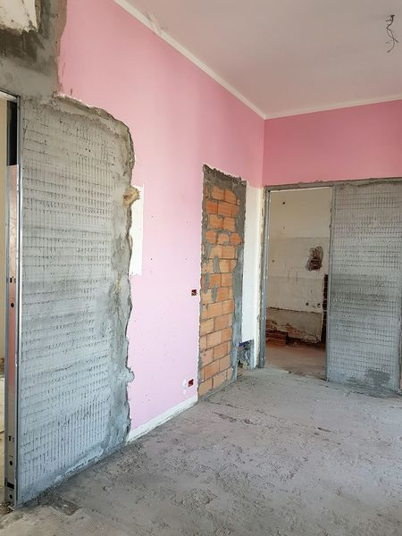 Pink Color No People Textured  Architecture Home Improvement DIY Renovation Home Addition Indoors  Day Pink Wall Renovation Wall Construction Interior Design Work Area Building Structures Building Interior Rebuilding Home Renovation  Home Interior Minimalist Architecture