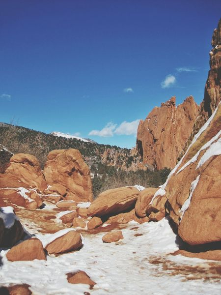 Blue Sky Landscape Coloradogram Rocks