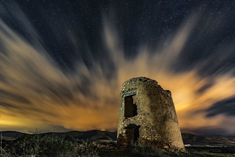 Nightphotography Ruins Windmill Abandoned Clouds Guidedphotography Long Exposure Night