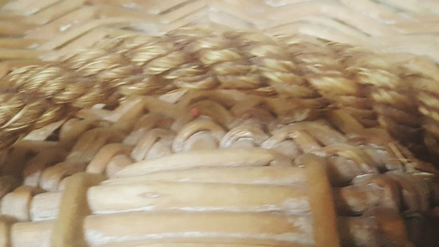 Rope Basket Weave Reed Basket Backgrounds No People Full Frame Nature Day Close-up