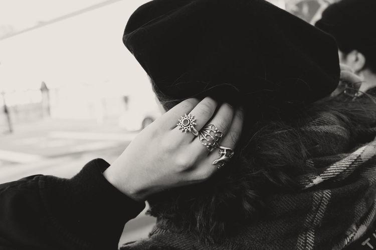 Adult Blackandwhite Close-up Fashion Hand Human Hand Jewelry Ring Silver  The Street Photographer - 2017 EyeEm Awards Live For The Story BYOPaper! Let's Go. Together. Black And White Friday Be. Ready. Visual Creativity The Fashion Photographer - 2018 EyeEm Awards