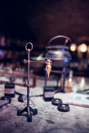 Close-up Felix Felicis Focus On Foreground Harry Harrypotter Indoors  Magic Metal No People Potions Potions Class