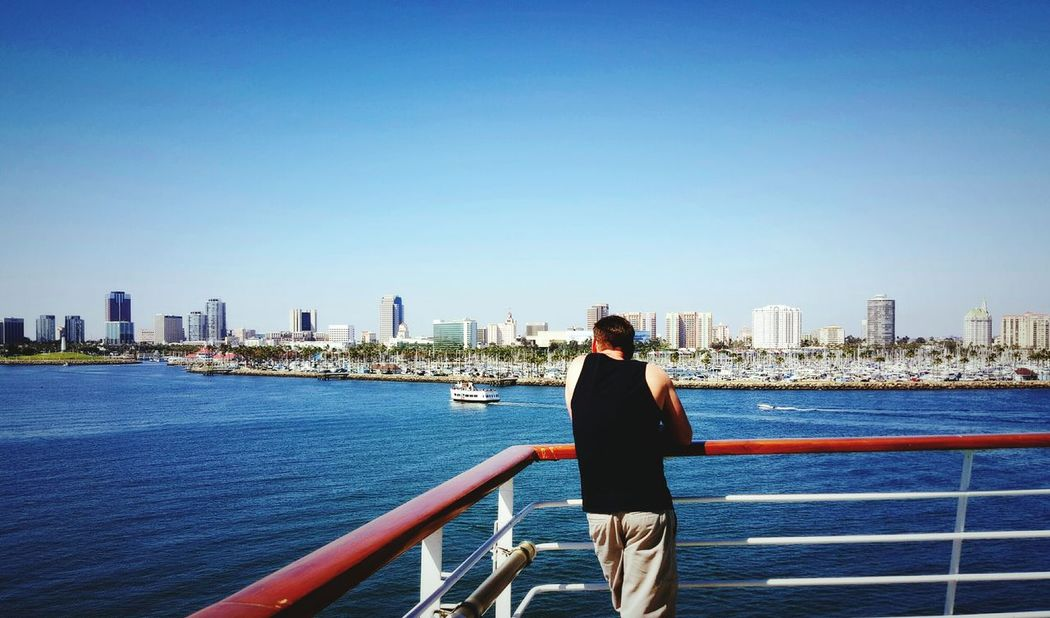 On The Way Los Angeles, California Cruise Ship Ocean View Cityscapes Boats Vacations BonVoyage Adult Male