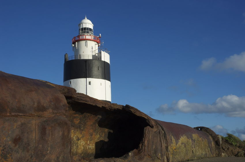 Hook Head 800-year-old lighthouse building Beacon County Wexford Hook Head Horizontal Ireland Lighthouse Maritime Nature Navigation No People Outdoors Shipping  Sky Symbol Wexford