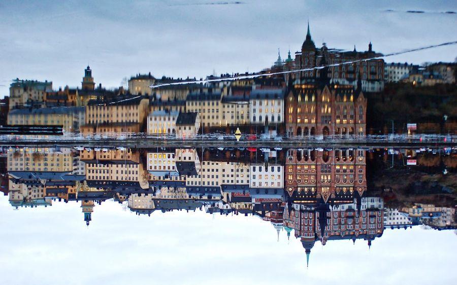 Södermalm-Stockholm, Sweden, 2016 Stockholm Sweden Stockholm, Sweden Updown Ice Mirror Reflection Reflections In The Water Södermalm Södermalm Stockholm