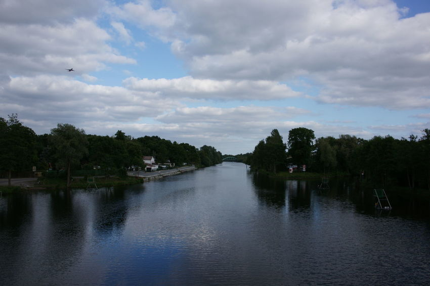 Berlin Berlin-Spandauer Schifffahrtskanal Clouds And Sky Himmel Hohenzollernkanal Kanal Sewer Sky Sky And Clouds Wasserweg