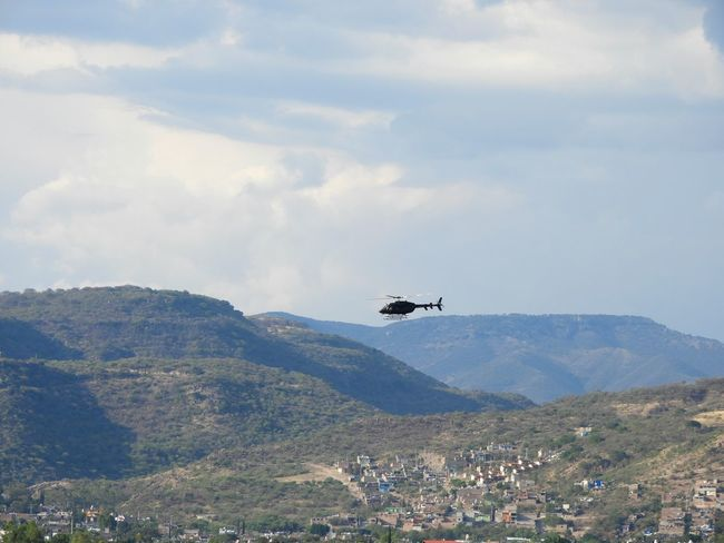 Flying Air Vehicle Mountain Day Mid-air No People Aerial View Outdoors Sky Airplane Nature Military Aerospace Industry Helicopter Cloud - Sky León, Guanajuato Parque Metropolitano De León Suburbios Scenics Tranquility