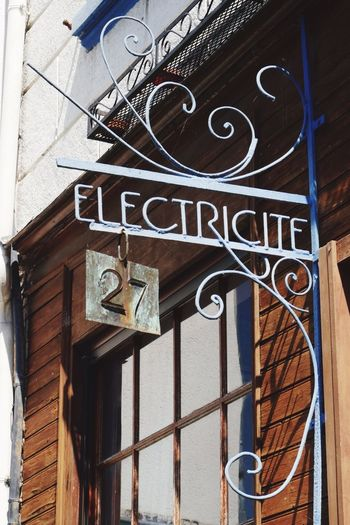 Electricite Sign Shop Sign Electricity