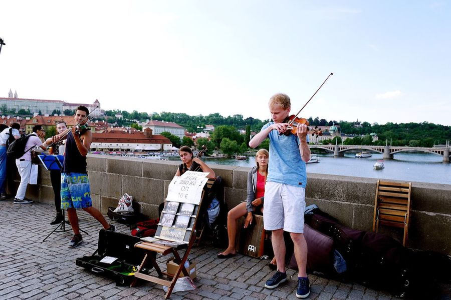 Prague Czech Republic 🇨🇿 EyeEmNewHere Miles Away Uniqueness EyeEm Best Shots Connection Eye4photography  Close Up Photo Art And Craft Photography Photooftheday Photographer Full Length Day Casual Clothing Beach City Leisure Activity Musical Instrument Sky Standing Outdoors Spectator People Vacations Young Adult Water Adult