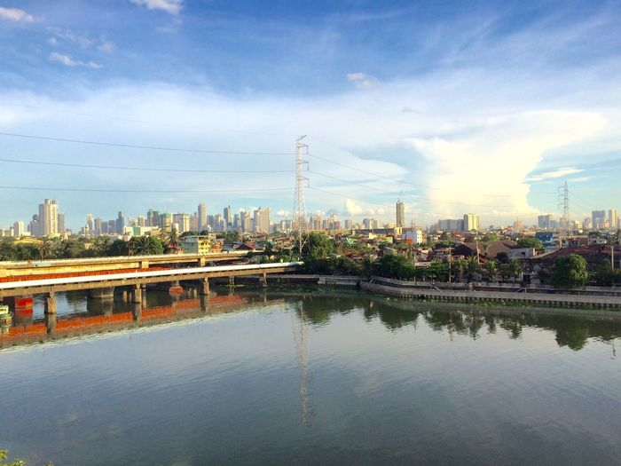 Sky City Waterfront Cloud - Sky Day Industry Cityscape Manila Philippines Pasig Pasigriver IPhoneography Iphone5s