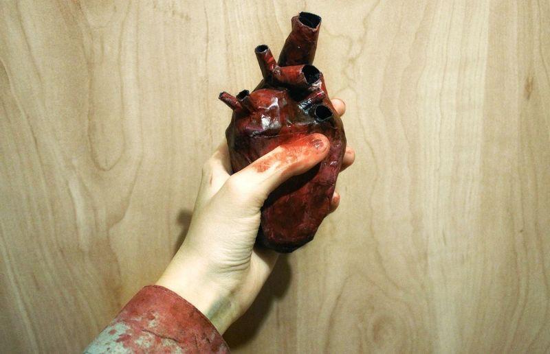 PaperHeart Halloween Halloweencostume Handmade Heart Blood Hand Papier-mache Ukraine Photo Canon