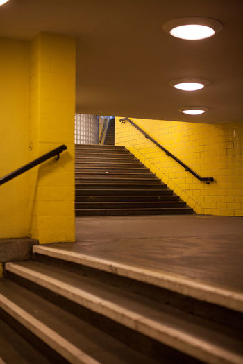 Staircase leading to subway