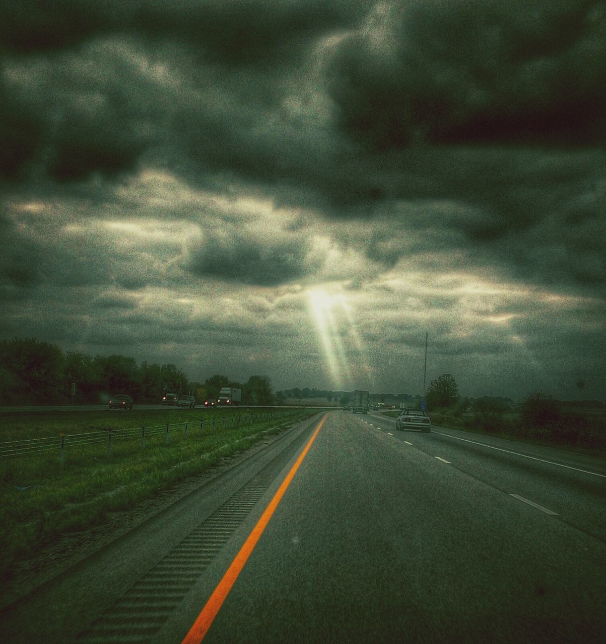 weather, road, cloud - sky, sky, the way forward, transportation, storm cloud, nature, no people, outdoors, scenics, day, beauty in nature, landscape, tree, thunderstorm, tornado