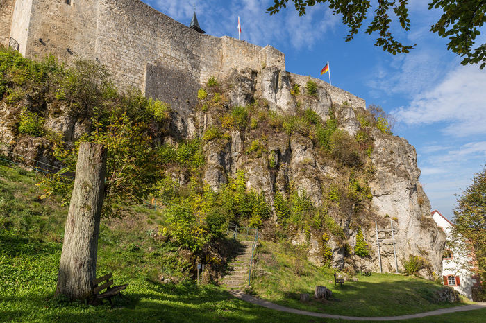Castle Hohenstein Architecture Beauty In Nature Building Exterior Built Structure Day Grass Low Angle View Mountain Nature No People Outdoors Rock - Object Sky Tree
