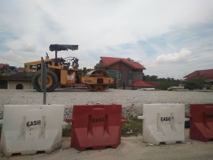 Incomplete Buldozer Road Construction Business Finance And Industry Sky Cloud - Sky Building Exterior Building