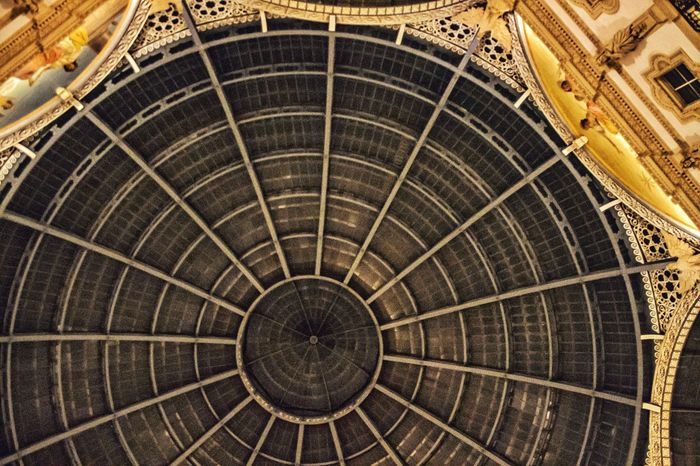Pattern Backgrounds Low Angle View Architecture Built Structure No People Indoors  Milan Galleria Vittorio Emanuele Geometric Shape Shapes And Forms Geometric Shapes Geometric Architecture Geometry Architecture Looking Up Soffitto