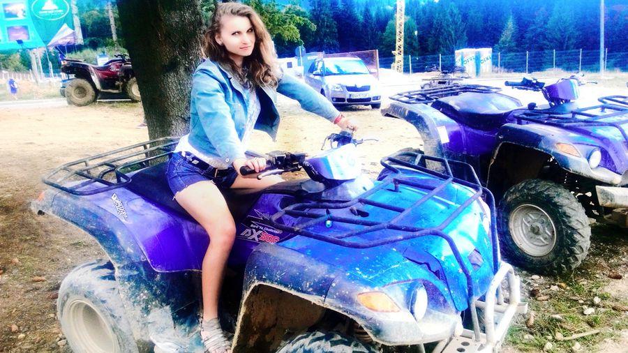 Crazygirl Enjoying Life Beautiful Girl Beautiful ♥ Model Pose Beauty Cutegirl ATV Ride Taking Photos#👌✨😽❤💚💜💙💛💋💋💋📷🎼🎼🎶 Today's Hot Look