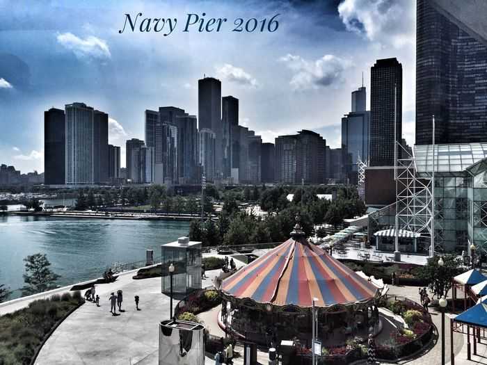 Love Chicago and fully enjoyed Navy Pier and their Millennium. 100 years celebrating. Congrats! Architecture Cityscape Navy Pier Ferris Wheel Waterfront Pspauly63 City Life