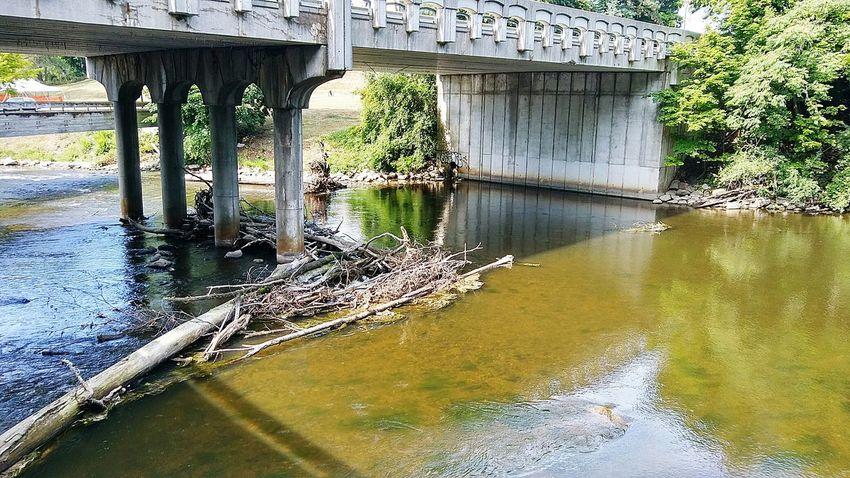 Bridge Ypsilanti Michigan Huron River Water Flowing Water Nature