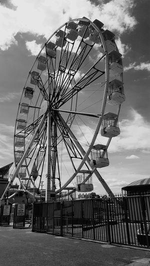 Seaside Pier Ferris Wheel Amusement Park Ride Carousel Arts Culture And Entertainment Amusement Park Traveling Carnival Sky Cloud - Sky