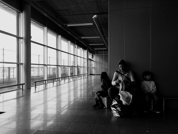 Monochrome Black & White Airport