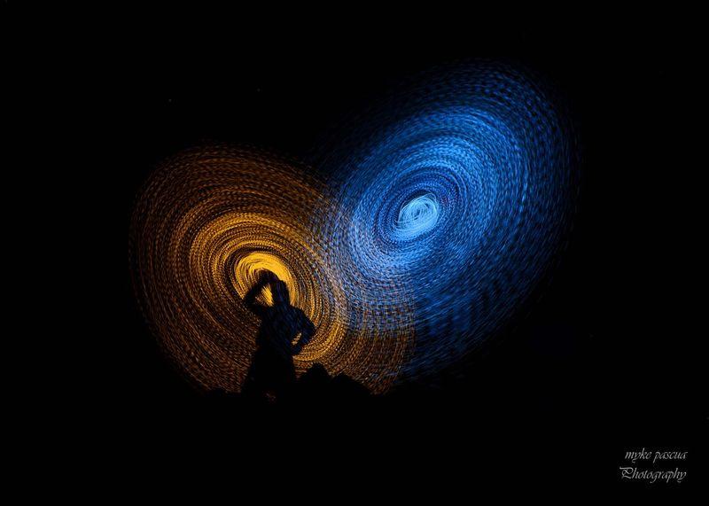 Drunken Shadow Night Illuminated Light - Natural Phenomenon One Person Astronomy Motion Arts Culture And Entertainment Black Background Lighting Equipment Dark Creativity The Creative - 2018 EyeEm Awards The Creative - 2018 EyeEm Awards
