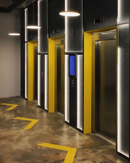Door Built Structure Illuminated Architecture Indoors  Exit Sign Modern Entrance No People Day Interior Design Interior Office Building Office Elevator